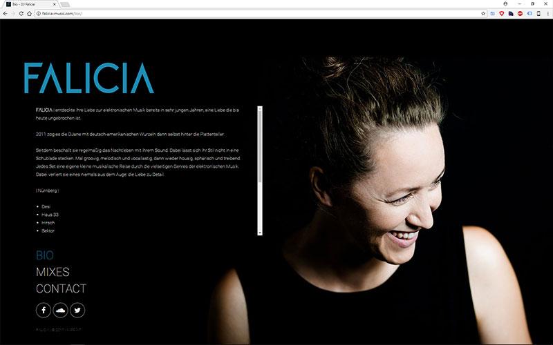 Falicia Music Website