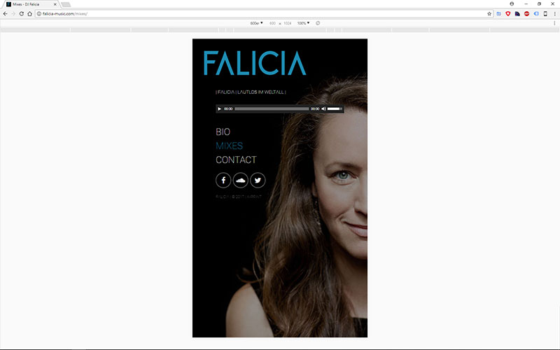 Falicia Music Website
