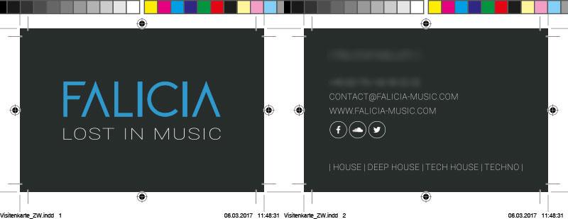 Falicia Music Visitenkarten