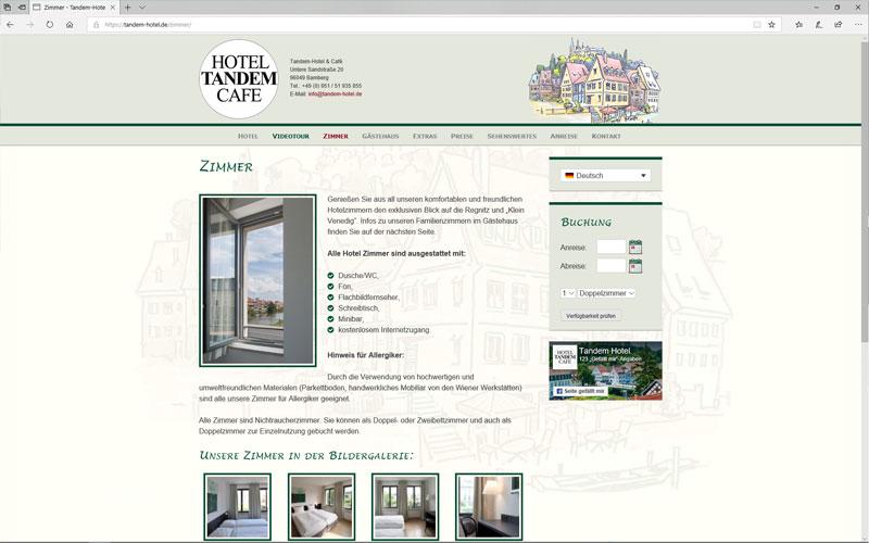 Website - Tandem-Hotel & Café